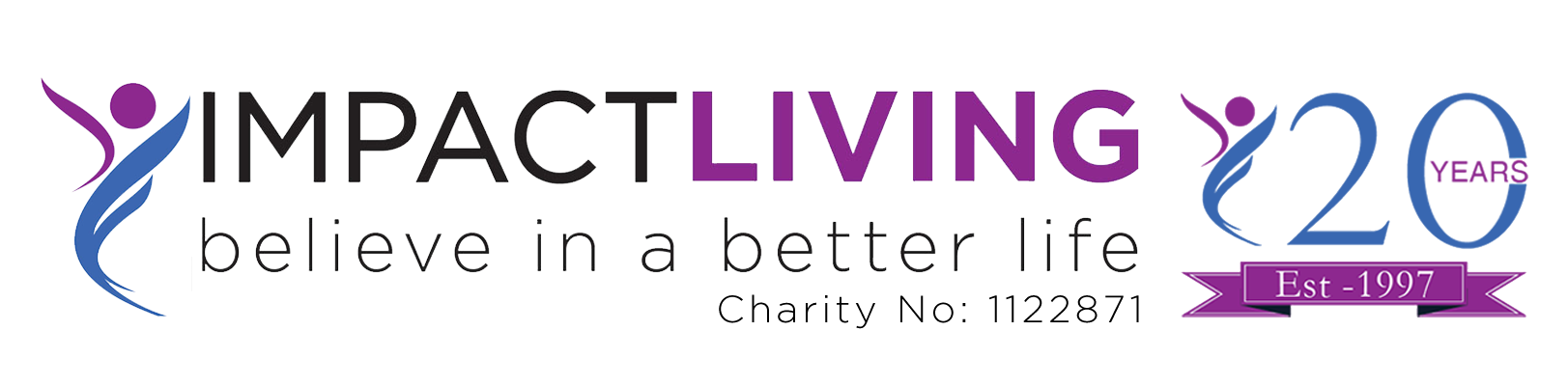 Impact Living - Believe in a better life Logo